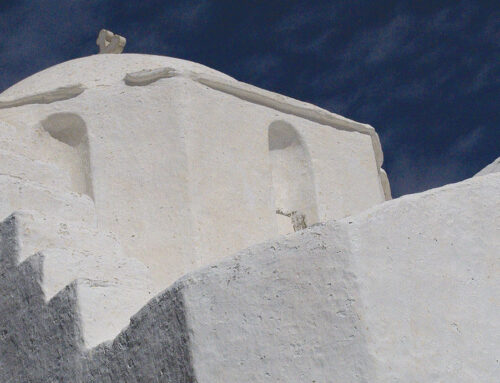 Agios Antonios and the medieval castle of Kefalos in Paros